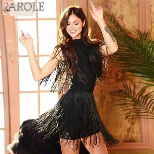 Sleeveless Tassels Fringe Tank Mini Dress -  Available In Multiple Color