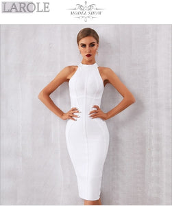 Elegant Tank Sexy Sleeveless Bodycon White Midi Dress - More Colors Option Available!