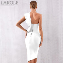 Load image into Gallery viewer, Sexy One Shoulder Ruffles Apricot Cocktail Beige Bandage Dresses  - Available in more colors