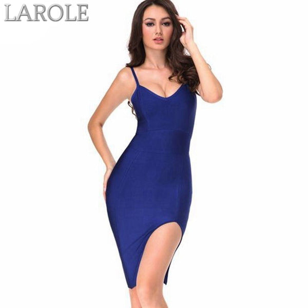 Runway Blue Bodycon Bandage Dress  For Evening Party- Available in multiple colors