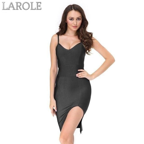 Runway Black Bodycon Bandage Dress  For Evening Party- Available in multiple colors