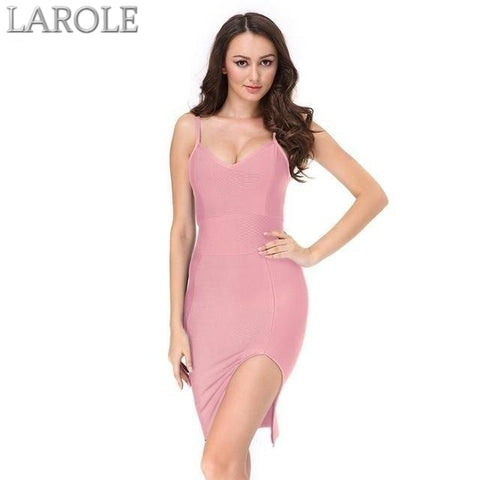 Runway Pink Bodycon Bandage Dress  For Evening Party- Available in multiple colors