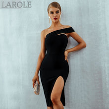 Load image into Gallery viewer, Summer Sexy Elegant One Shoulder Front Slit Midi Celebrity Party Dresses - More Colors Are Available