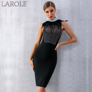 Luxury Diamond Celebrity Black Evening Party Dress