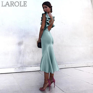 Violet Green Ruffles Butterfly Sleeveless Backless Mermaid Dresses