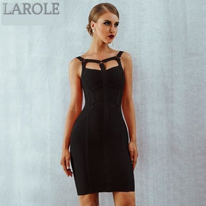 Spaghetti Strap Bustier Black Mini Party Dress  - Available In More Colors