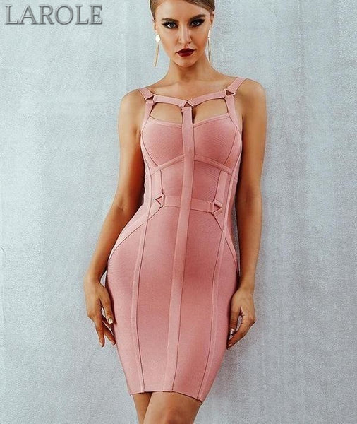 Spaghetti Strap Bustier Pink Mini Party Dress  - Available In More Colors