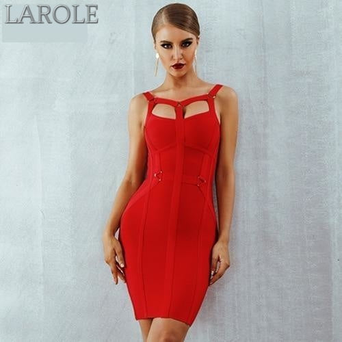 Spaghetti Strap Bustier Red Mini Party Dress  - Available In More Colors