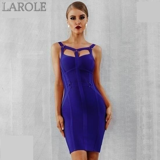 Spaghetti Strap Bustier Blue Mini Party Dress  - Available In More Colors