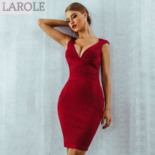 Load image into Gallery viewer, Red  Evening Party  Bodycon Bandage Dresses