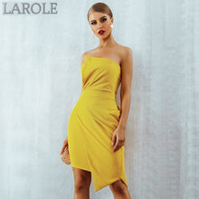 Load image into Gallery viewer, Sleeveless Strapless Elegant Yellow Bandage Dress- Available in More color