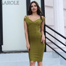 Load image into Gallery viewer, Sasha Off Shoulder Celebrity Party Midi Dress - More colors are Available