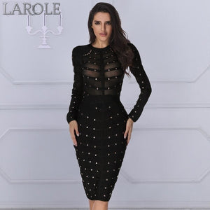 Edgy Sexy  Long Sleeve Bodycon Midi Dresses- More Colors Available