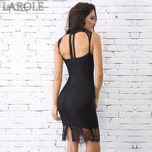 Load image into Gallery viewer, New Sexy Sleeveless Hollow Out Midi Lace Tank Club Celebrity Party Dresses