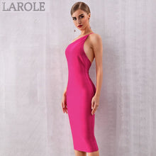 Load image into Gallery viewer, Rose Red Spaghetti StrapEvening Cocktail Party Midi Dress