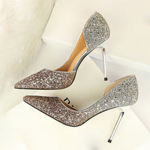 Load image into Gallery viewer, Sequins Scarping wedding Party Pumps