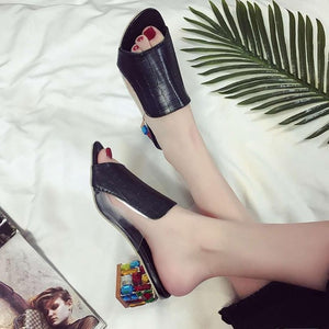 Women Flats Flower Elegant Peep Toe Sandals