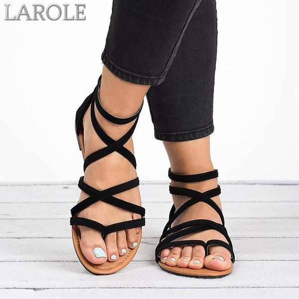 Summer Gladiator Sandals with  Zip