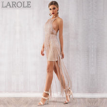 Load image into Gallery viewer, Gold Tassels Fringe Dress