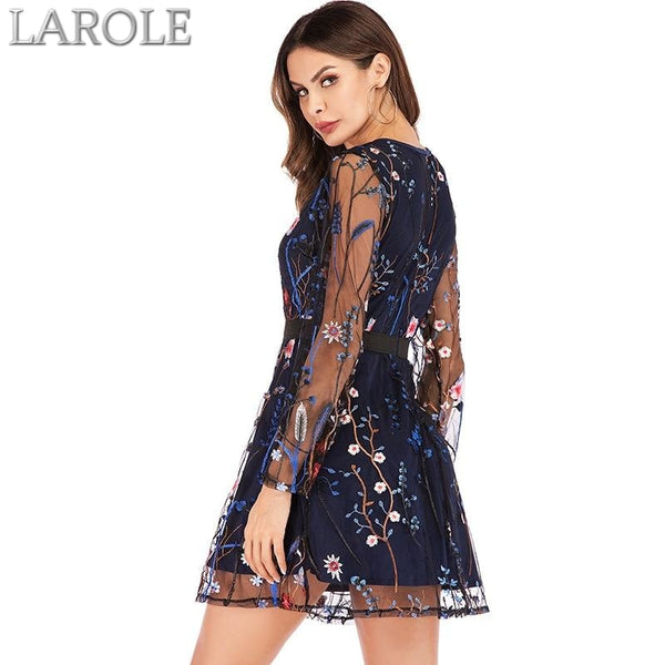 Floral Embroidery Women Summer Dress - More Colors Available