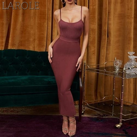Wine Red Spaghetti Strap Sleeveless Maxi Club Celebrity Evening Party Dresses- More Colors Are Available