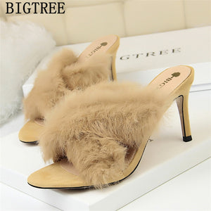 Fetish high heels slippers