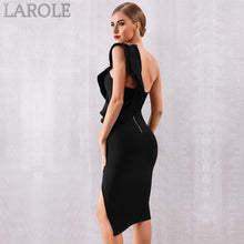 Load image into Gallery viewer, Sexy One Shoulder Ruffles Bodycon Black Cocktail Dresses  - Available in multiple colors