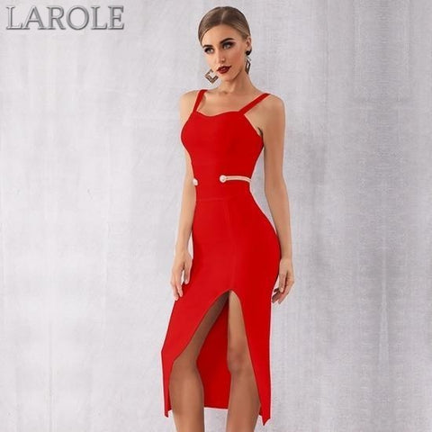 Red Sexy Spaghetti Strap Deep V Summer Bandage Dress - More Color Option Available!