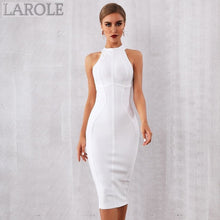Load image into Gallery viewer, Elegant Tank Sexy Sleeveless Bodycon White Midi Dress - More Colors Option Available!