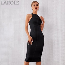 Load image into Gallery viewer, Elegant Tank Sexy Sleeveless Bodycon Black Midi Dress - More Colors Option Available!
