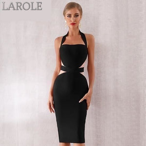 Bodycon Bandage Dress Sexy Halter Strapless Lace Club Dresses - Available in Multiple colors