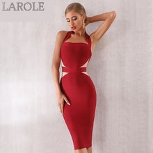 Load image into Gallery viewer, Bodycon Bandage Dress Sexy Halter Strapless Lace Club Dresses - Available in Multiple colors