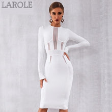Load image into Gallery viewer, See Through Sexy Long Sleeve Elegant White Evening Party Dress