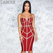 Load image into Gallery viewer, Sexy Spaghetti Strap Sleeveless Club Hot Bodycon Bandage Dress- Available in White, blue, red, yellow and black