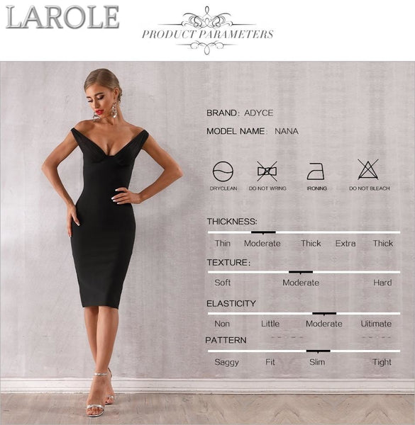 Elegant Off Shoulder Black Cocktail Bodycon Dress With Plunge Neckline. More Colors Are Available