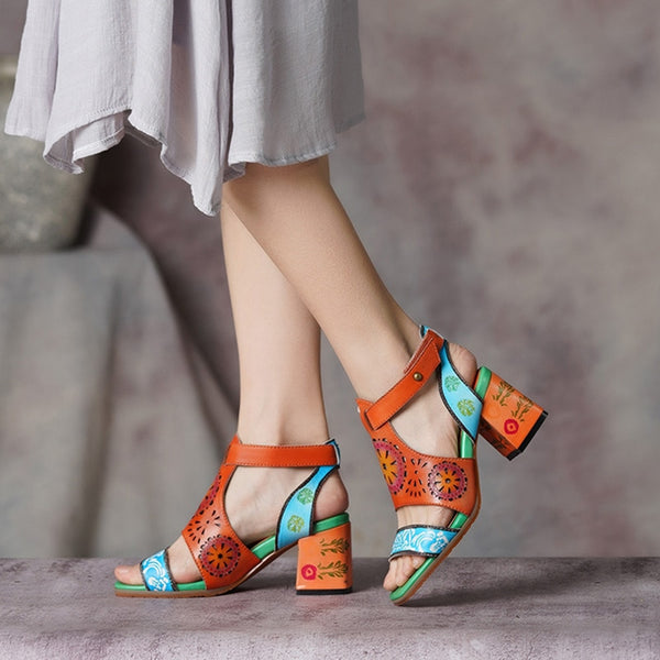 Ethnic Style GenuineLeather Sandals