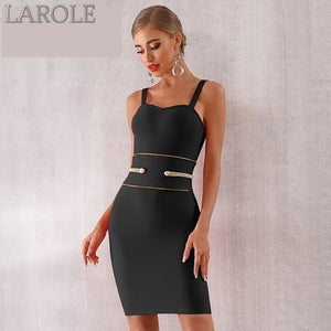 Spaghetti Strap Black  Mini  Elegant Evening Party Dress - More Colors Are Available