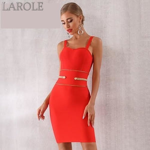 Spaghetti Strap Red Mini  Elegant Evening Party Dress - More Colors Are Available