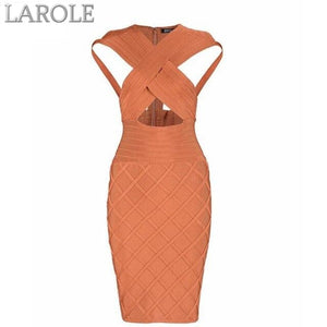 Party Sleeveless Sexy Hollow Night Out Orange Dress
