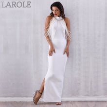 Load image into Gallery viewer, Elegant Long Pearls Chain Bead Backless  Evening Maxi Dress