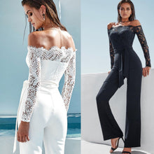 Load image into Gallery viewer, Hirigin Off-Shoulder Long Sleeve Party Jumpsuit - More Colors Are Available