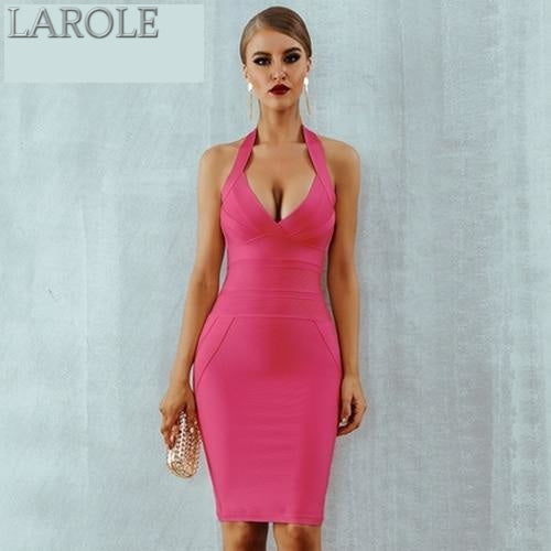 Sexy Halter Backless Sleeveless Bodycon Clubwear  - More Colors Available