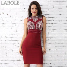Load image into Gallery viewer, Shine Like A Diamond Nude  Sexy Tank Sleeveless Party Bandage Dresses- More colors available