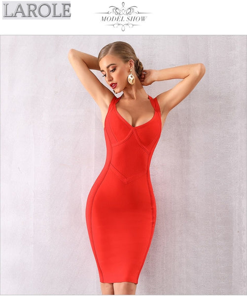 Halter V Neck Spaghetti Strap Evening Cocktail Party Dress - Available in more colors