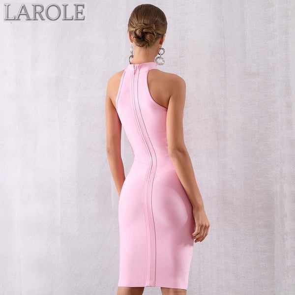 Sleeveless Light Pink Tank Bodycon  Party Dress