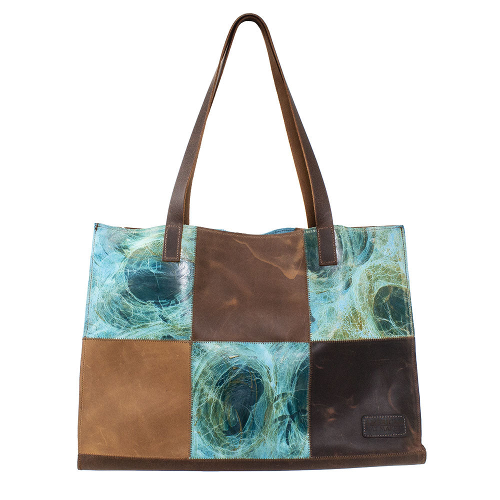 The Gianna Teal Tote