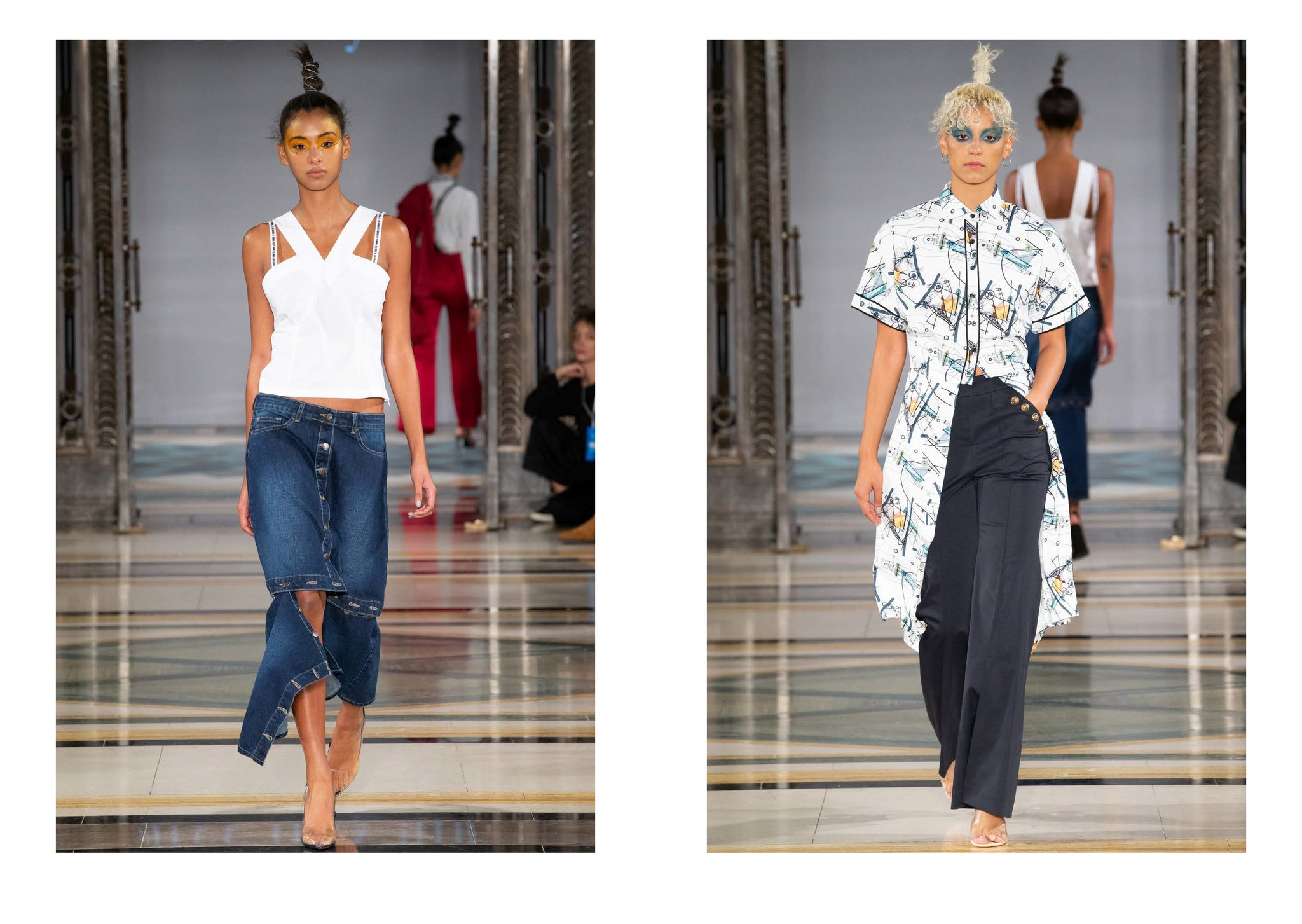 three fifty nine spring summer 2019 show at London fashion week looks 19 and 20