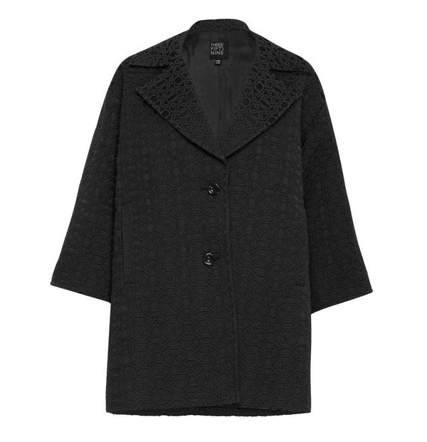 Oversized Jacquard Coat