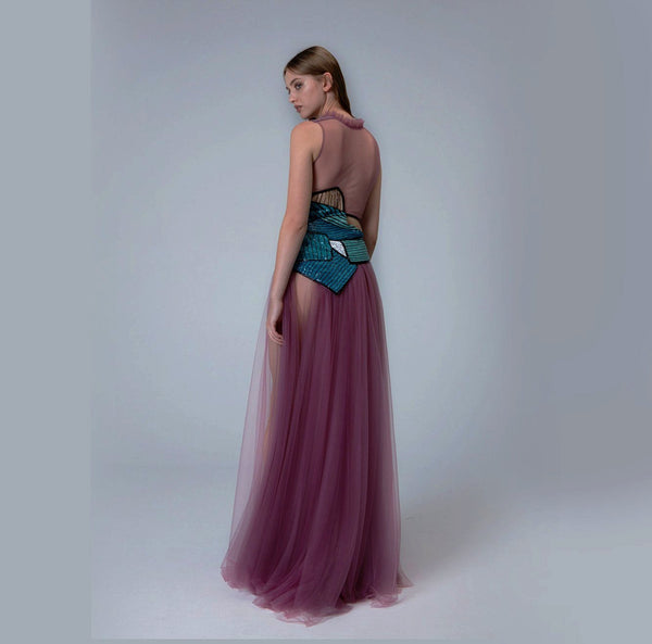 Mauve Floor Length Gown
