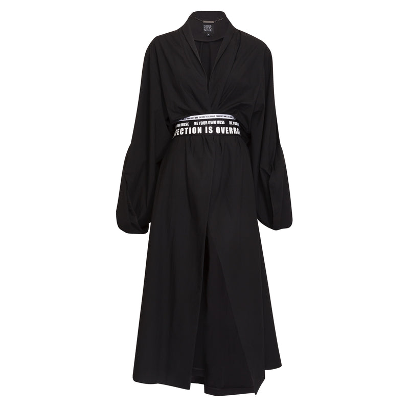 Black Cotton Trench
